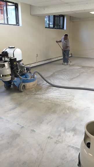 Concrete Polishing Dry