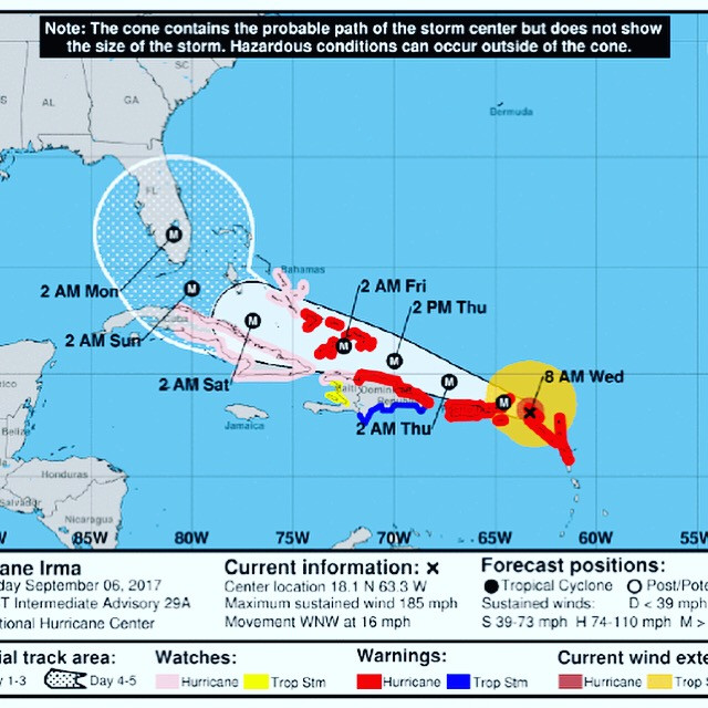 Keeping Everyone In The Path Of Hurrincane Irma In Our Prayers!!!