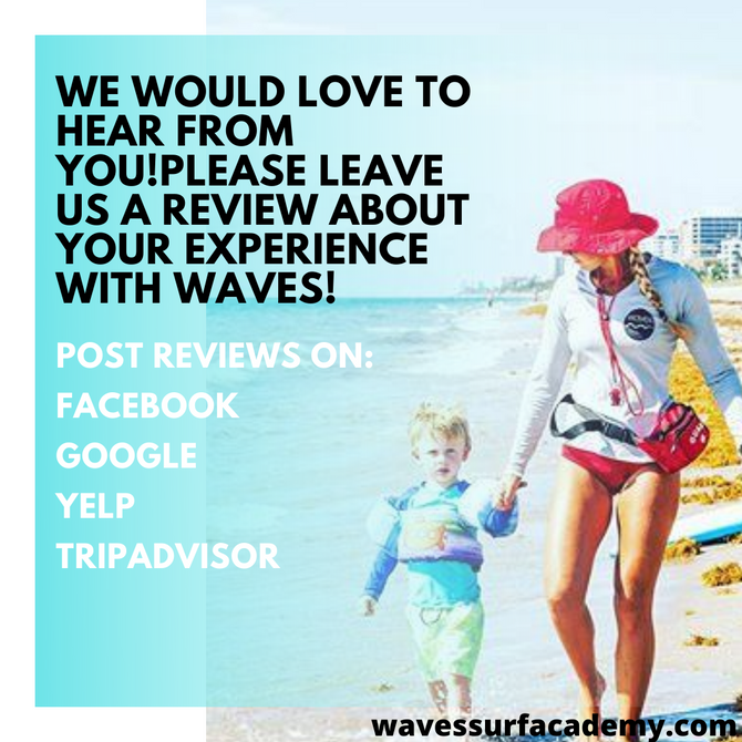WE WOULD LOVE TO HEAR FROM YOU!