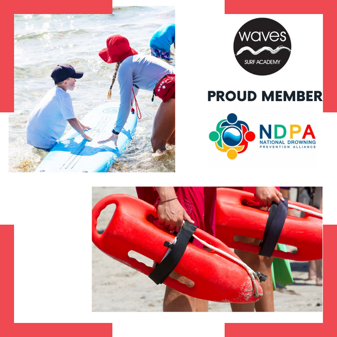 WAVES SURF ACADEMY IS OFFICIALLY A MEMBER OF THE NATIONAL DROWNING PREVENTION ALLIANCE