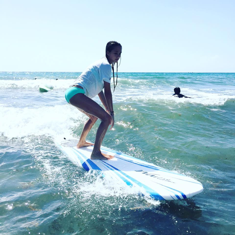 Surfing in Delray beach, Florida