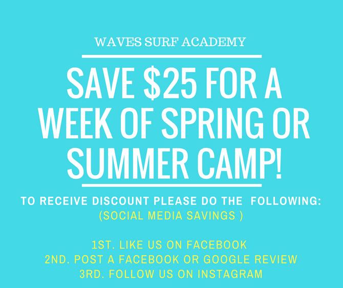 SAVE $25 ON CAMPER REGISTRATION FOR A WEEK OF SPRING OR SUMMER!