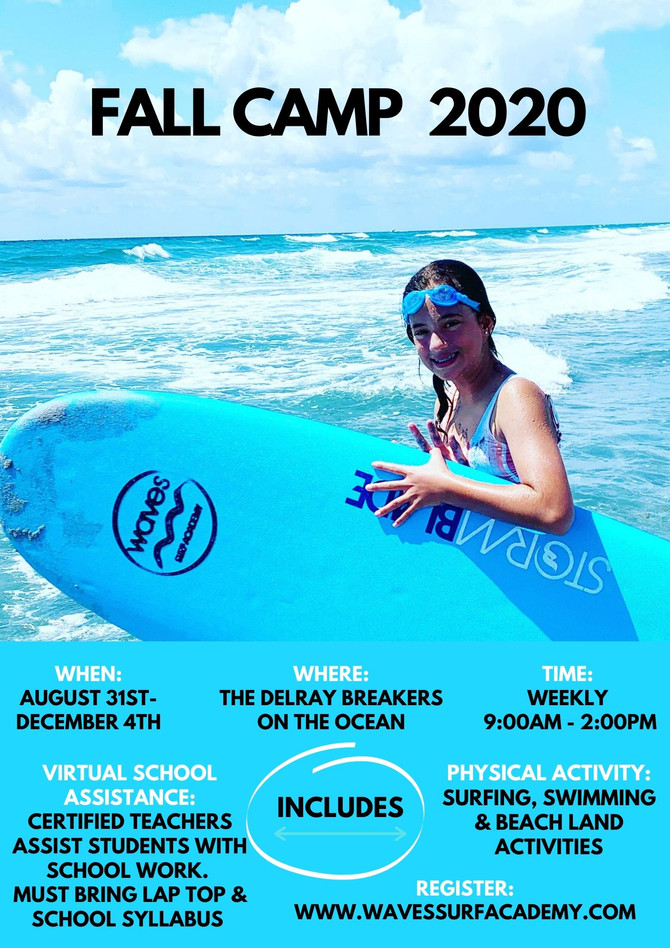 Fall 2020 Surf Camp & School Assistance
