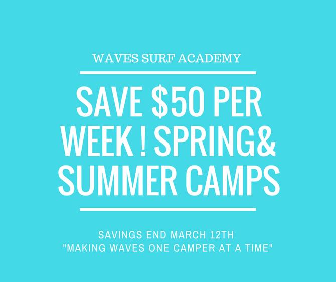 SPRING & SUMMER CAMP SAVINGS!