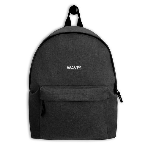 Waves Embroidered Backpack