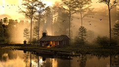 The old cabin on the swamp lake.jpg