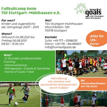 Fußballcamp beim TSV Stuttgart-Mühlhausen