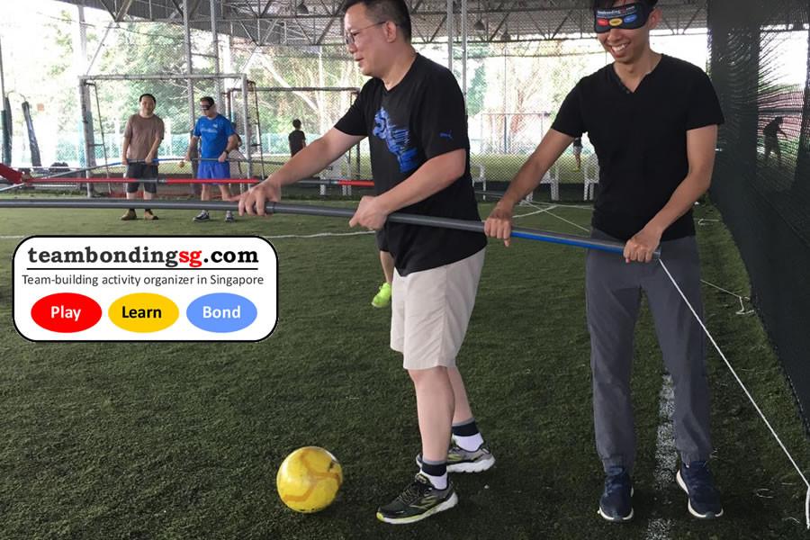 Blind fold Human Foosball game modes
