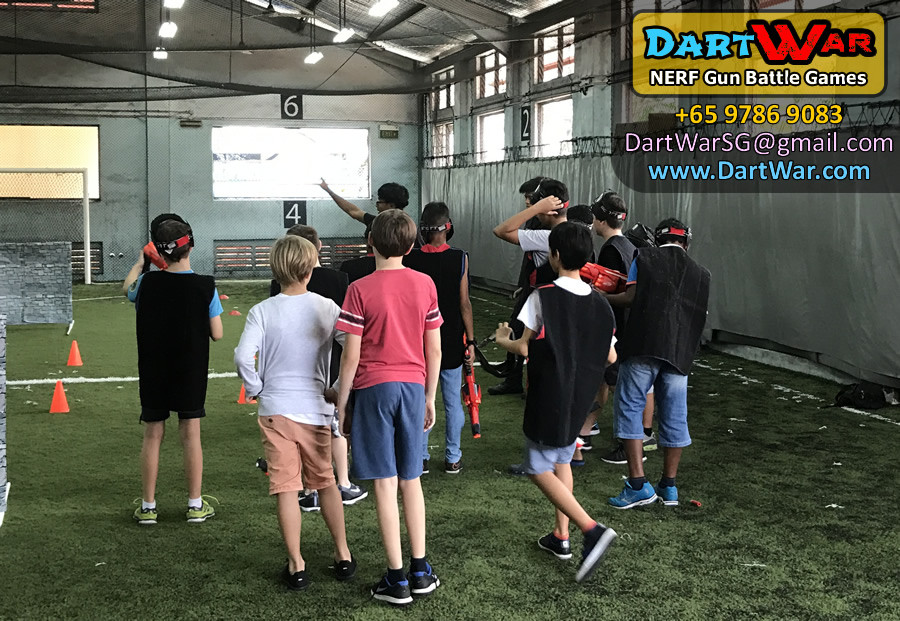 Safety and game rules briefing | Dart War NERF Birthday Party Singapore