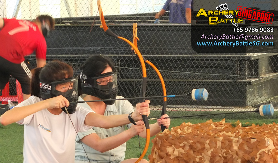 Girl power! Archery Tag Singapore Casual Game for Friends