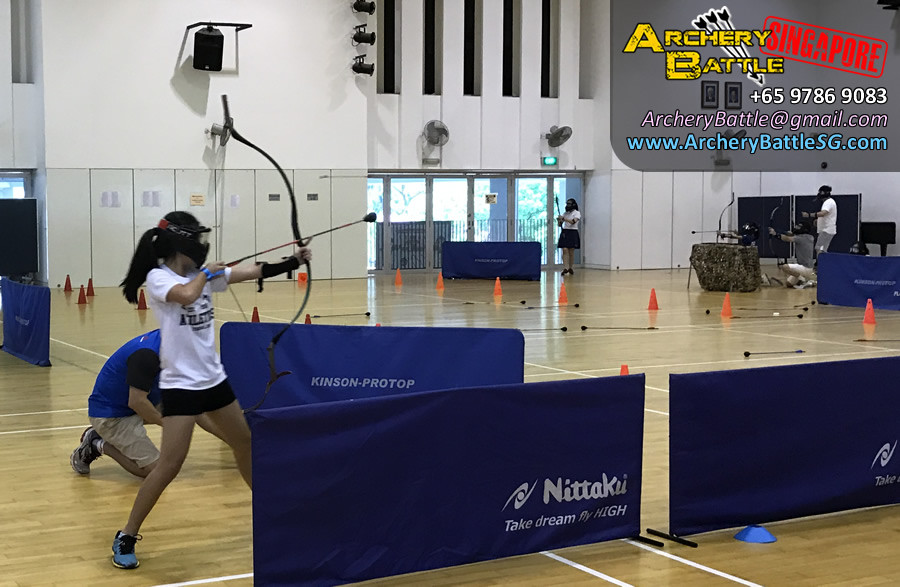 Awesome girl Archer! - Father Daughter Archery Tag Bonding Game