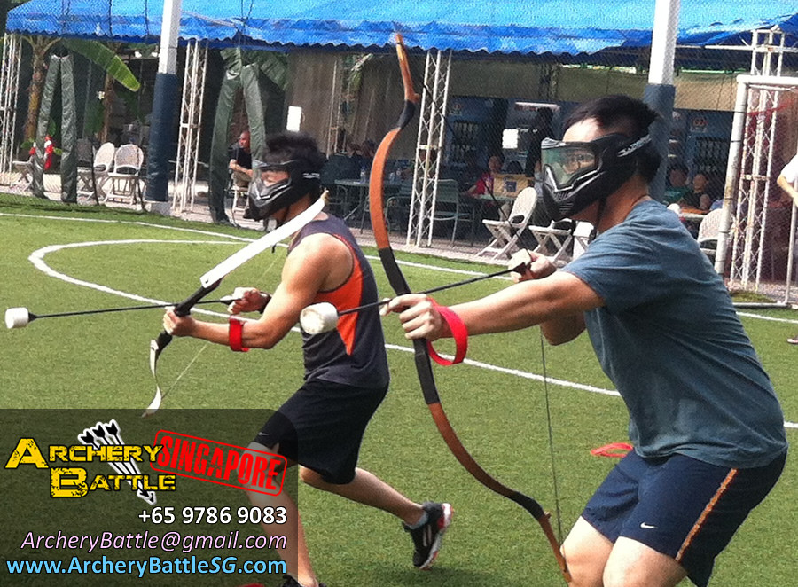 Buddy system! Archery Tag for Ministry of Manpower Singapore