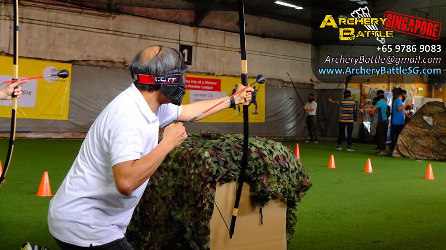 Samurai Archery Tag in action!