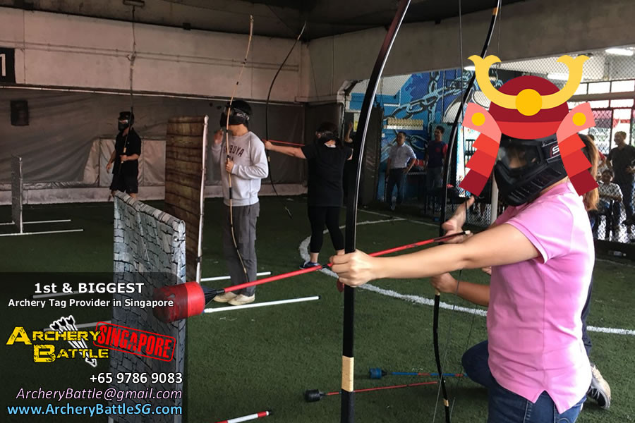 Learning how to shoot - Samurai Archery Tag Singapore