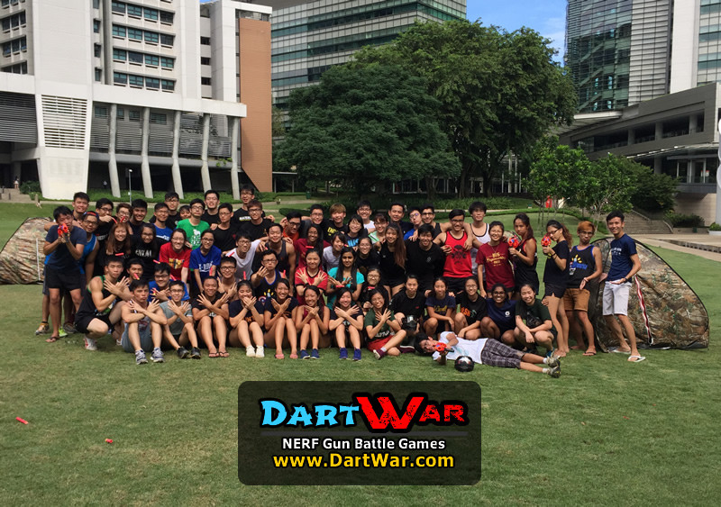 Group photo NERF Team Building & Cohesion at National University of Singapore