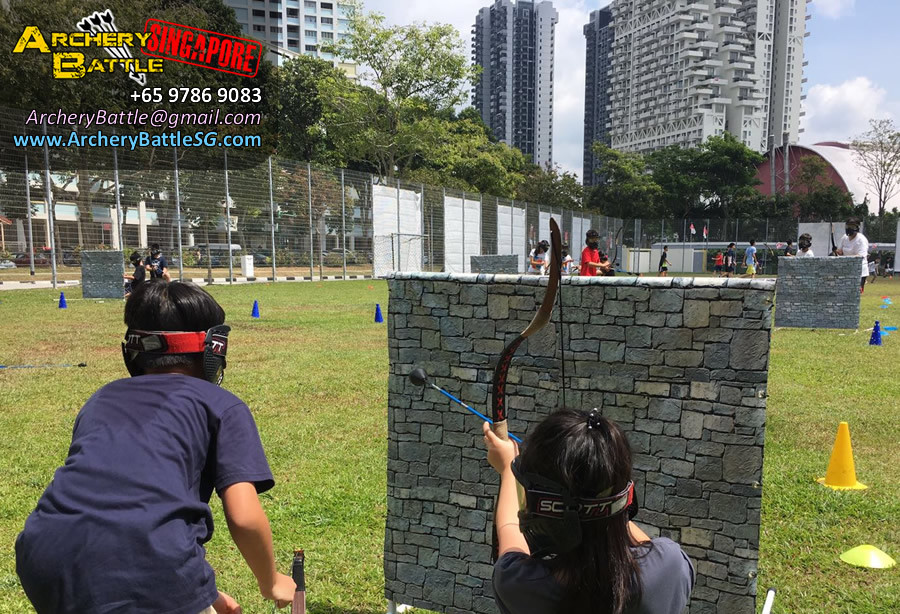 Archery Tag Singapore Carnival Event - Kids can play too.