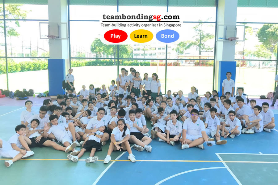 Teambondingsg for 80+ students in a Singapore secondary school