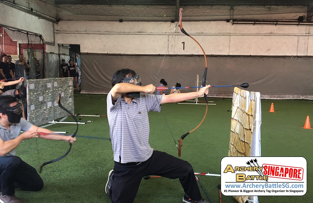 Authentic combat archery bows used in our games
