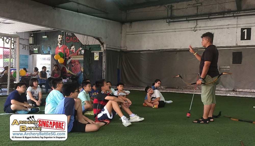 Safety and Game Rules briefing for kids Archery Tag birthday party