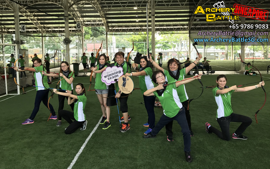 Fun Group photo! Archery Tag Singapore