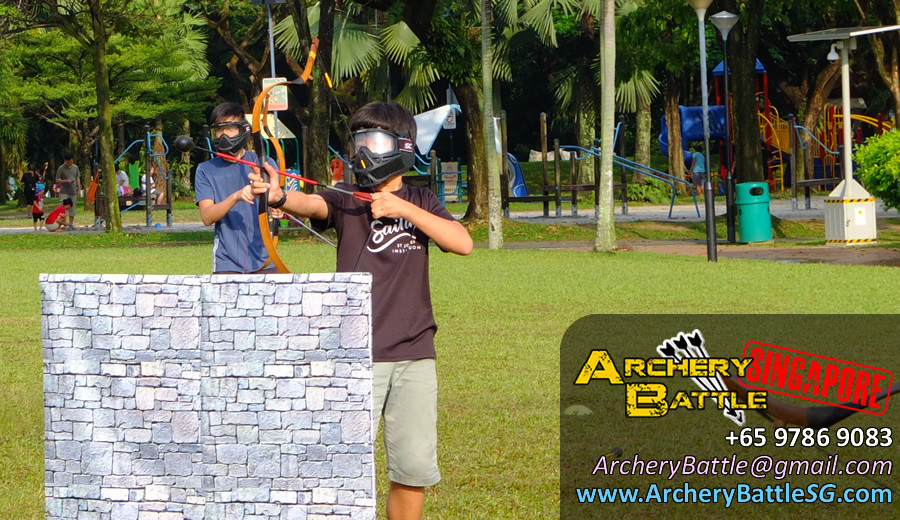 Weather turned hot again | Archery Tag Singapore at West Coast Park