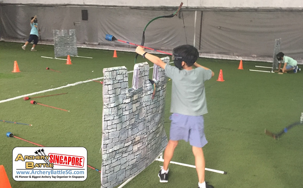 Defend your Castle in Kids Archery Tag Birthday Party