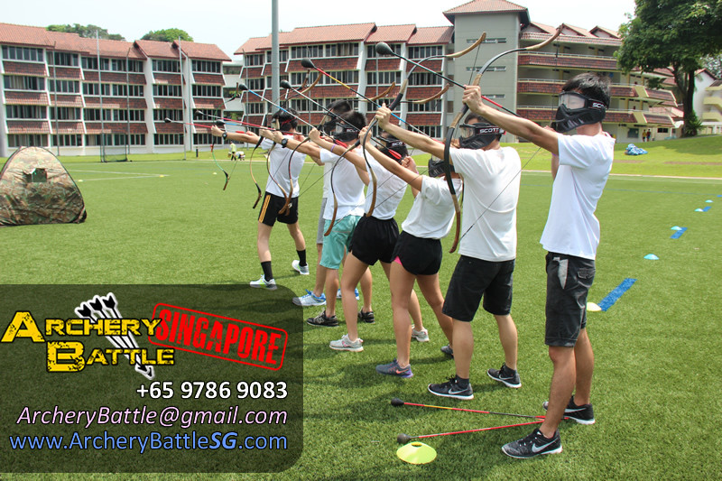 Teamwork is the key in Archery Tag!