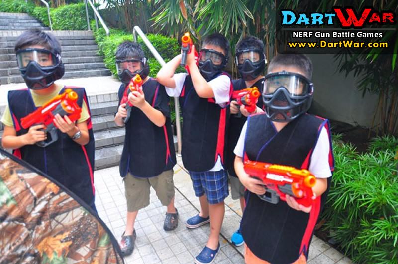 Mobile Dart War NERF Birthday Party Singapore