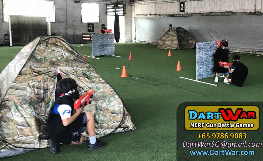 Dart War NERF Birthday Party at The Cage