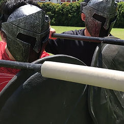 Spartan Tag Spear fencing game for cohesion or company team building in Singapore