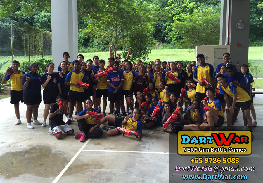 Group Photo - NERF Team Building & Cohesion at Woodlands Secondary School by Dart War
