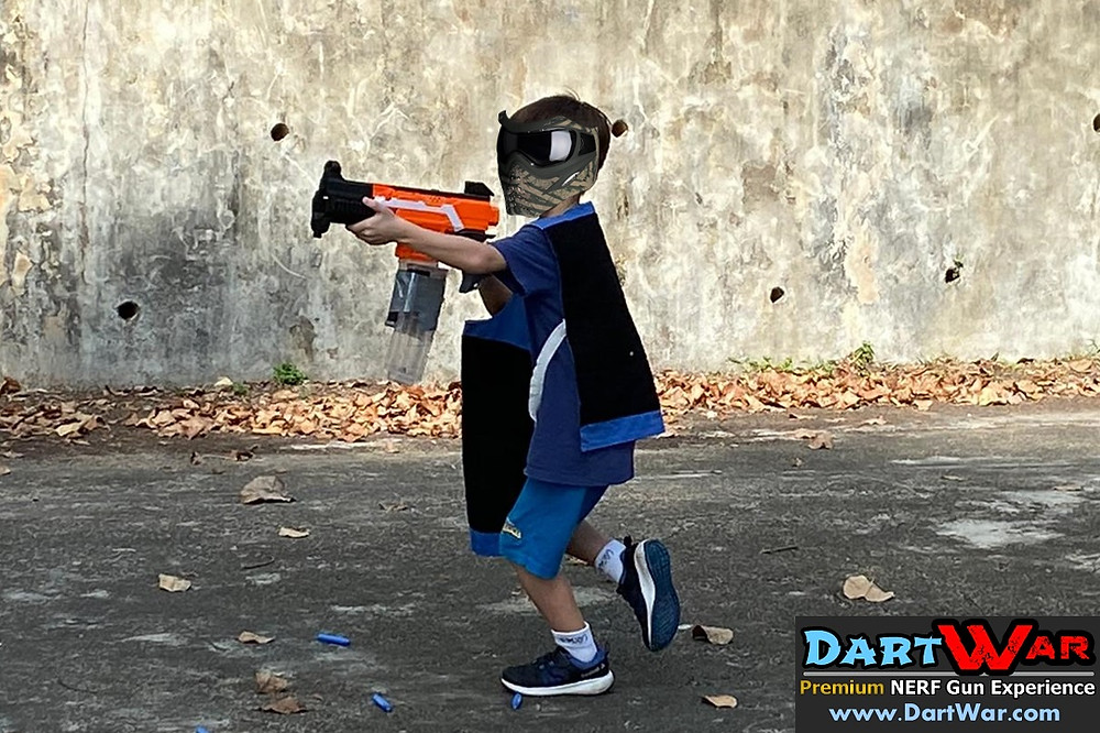 Special modified NERF guns for kids to play