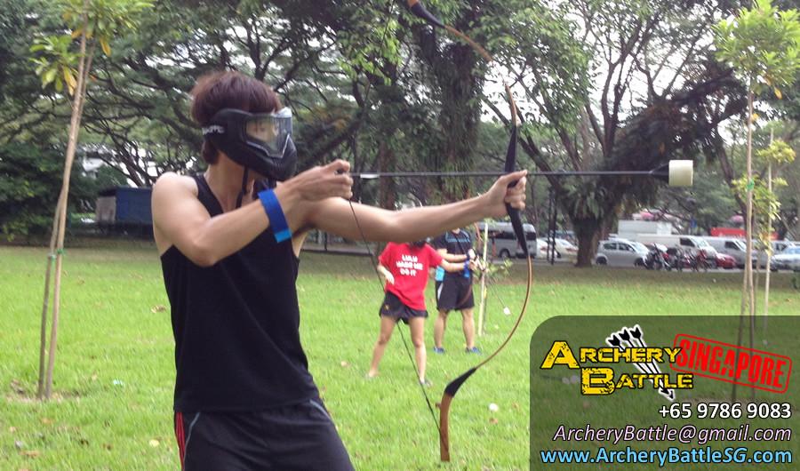 Archery Tag Singapore at East Coast Park