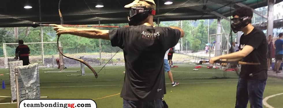 Archery Tag aiming