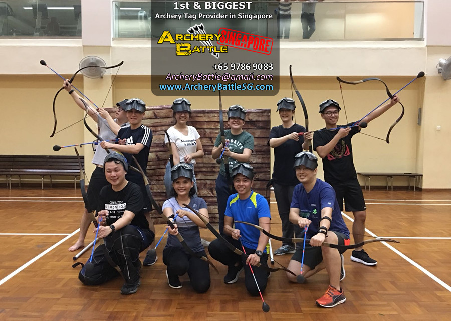 Changi Airport Archery Tag Group Photo