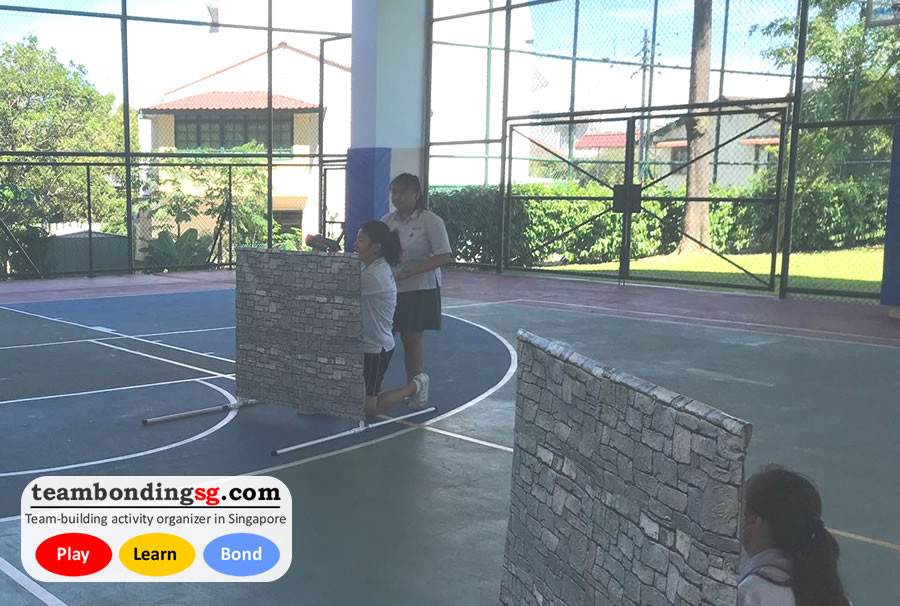 Laser Tag Singapore in basketball court