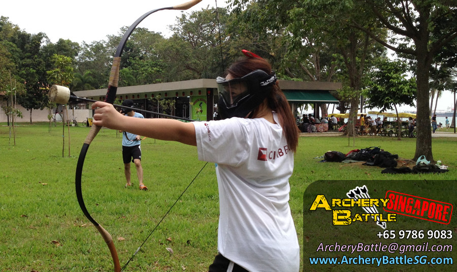 Girl power! Archery Tag Singapore at East Coast Park
