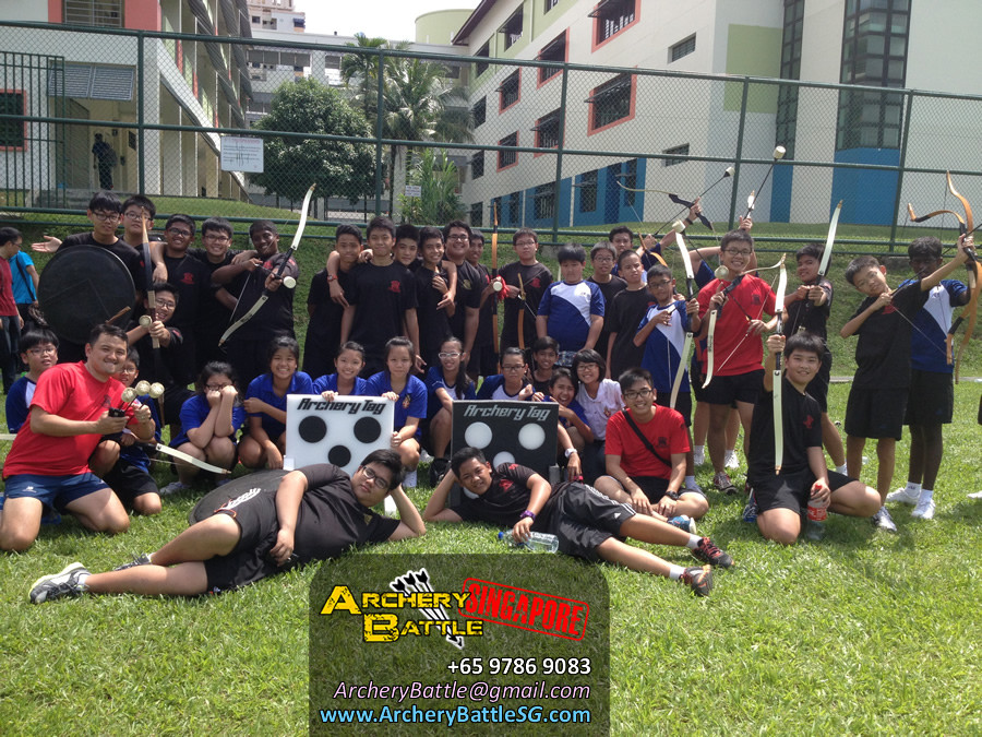 Group Photo Archery Tag Singapore at Canberra Secondary School