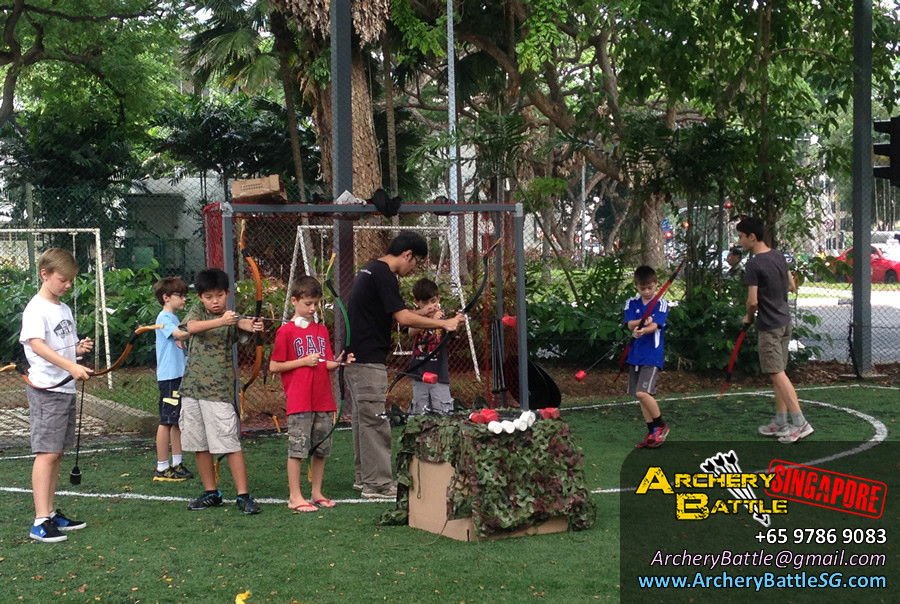 Basic Archery coaching for the kids | Archery Tag Singapore