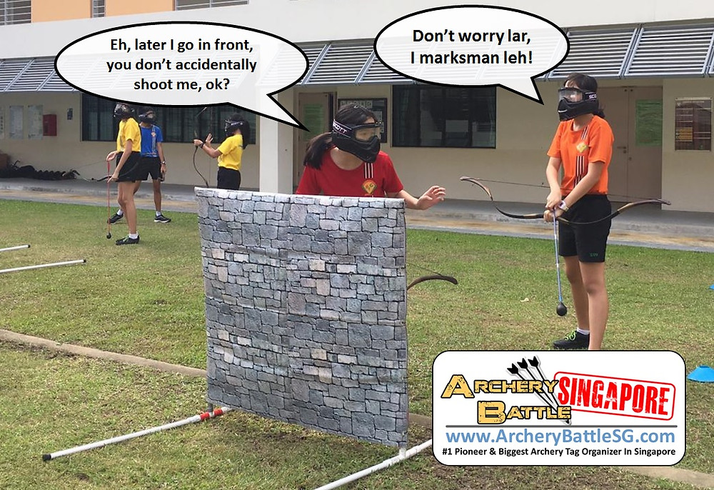Funny moment in Archery Tag Singapore