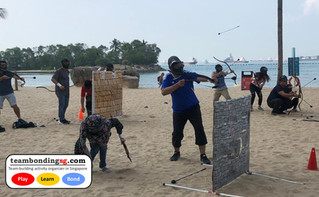 Archery Tag at Sentosa Beach!