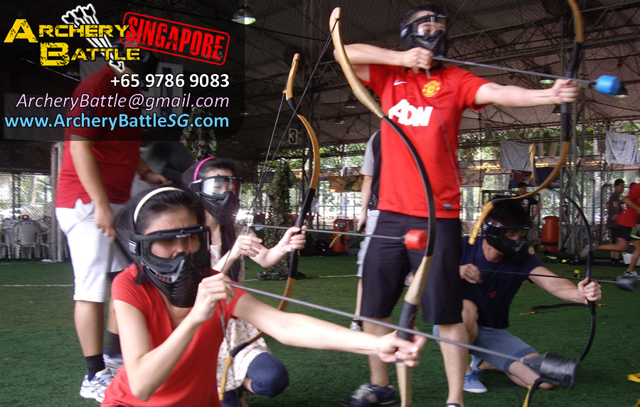 All shoot! Archery Tag for Monetary Authority of Singapore
