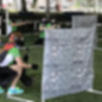 Mock walls in Archery Tag Singapore team building events