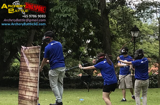 Battle Archery Tag at Fort Canning Hill Park!