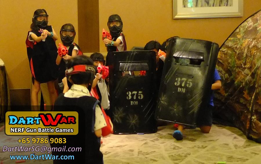 Riot Shields! NERF Gun Battle Games for Birthday Party