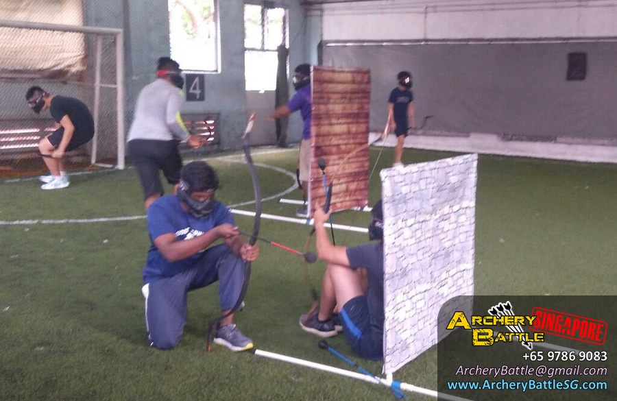 Kranji Camp Archery Tag at The Cage near Stadium MRT