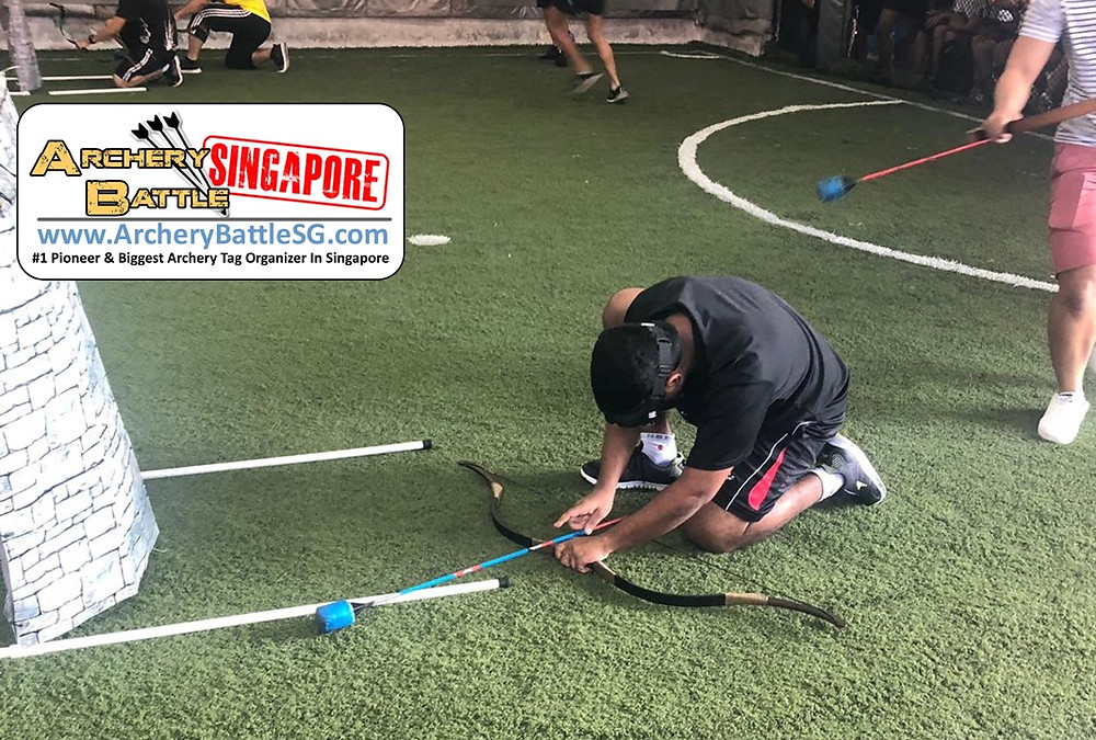 Tactical reload in Archery Tag Singapore