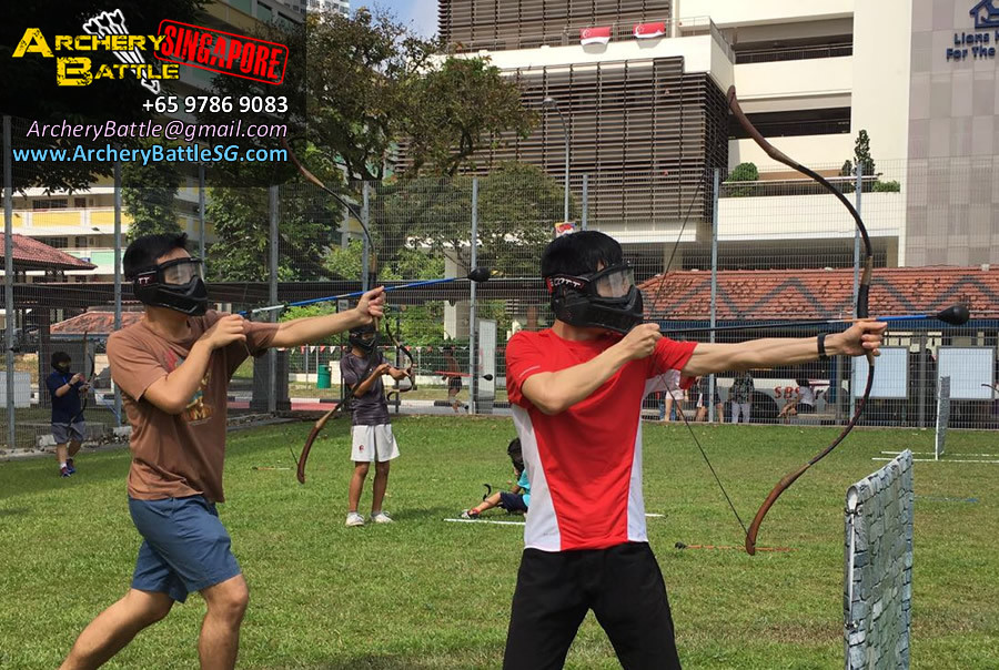 Archery Tag Singapore Carnival Event - Confident player