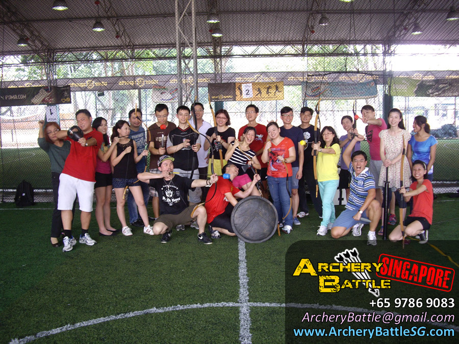 Group Photo Archery Tag for Monetary Authority of Singapore
