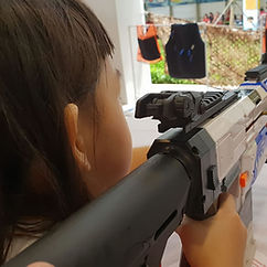 Special Modified NERF gun for carnival shooting booth - DartWar Singapore